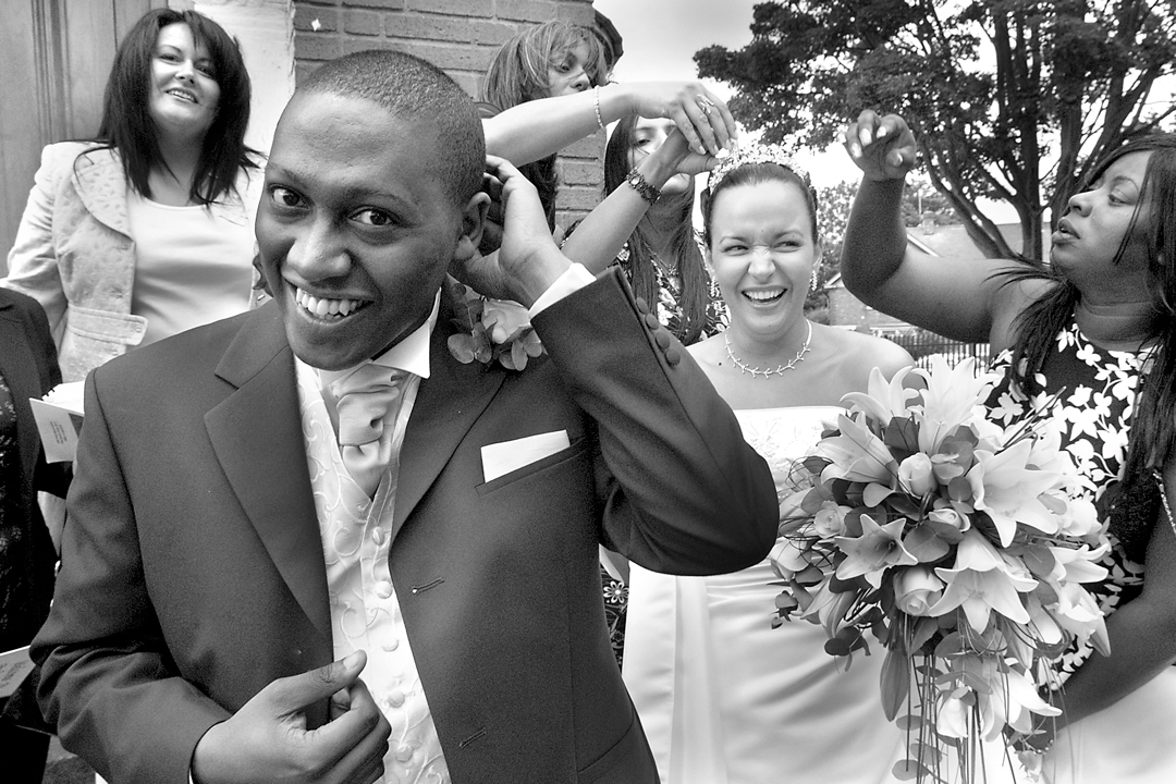 candid documentary style photograph of a wedding in Birmingham
